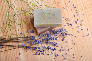 Fototapete - Natural soaps for bodycare