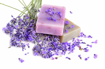 Fototapete - Lavender and soaps