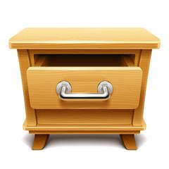 Fototapeta Wooden drawer illustration obraz