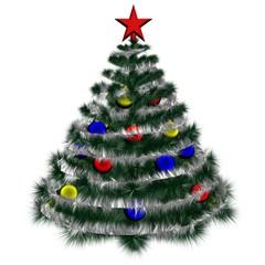 Isolated Christmas Fir