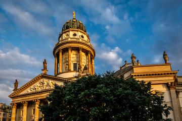 German Cathedral on Gendarmenmarkt Square in Berlin, Germany