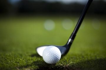 Golf ball on driver