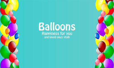 card with balloons that give joy and Happiness