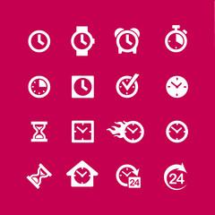 web icon set - time, clock, alarm