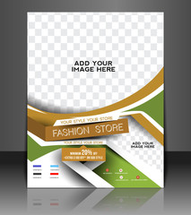 Fashion store Front Flyer & Poster Cover Template