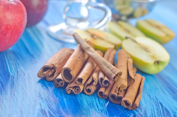 cinnamon and apples