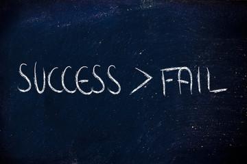 success beats fail