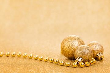 Weihnachtskarte gold