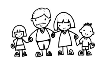 Happy family, vector illustration