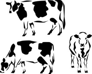 stylized dairy cow