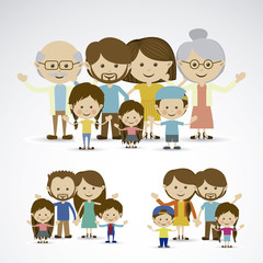 Wall Mural - different families