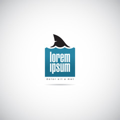 Shark of business. Company logo template