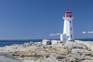 Peggy's Cove lighthouse, Nova Scotia Wall mural