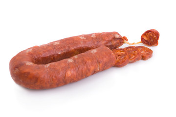 Sliced Iberian chorizo, from Barrancos