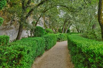 Perigord, the picturesque garden of Marqueyssac  in Dordogne