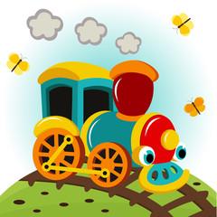 animated train - vector illustration