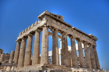 Les Cariatides de l'Érechthéion sur l'Acropole d'Athènes en HDR