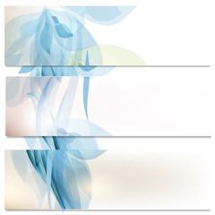 Business cards set in blue color