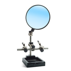 Hands Free.  Magnifier Helping Hand Magnifying Glass.