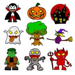 Halloween character  cartoon.