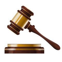 Wooden judges gavel