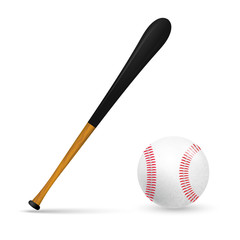 Bat and ball for baseball