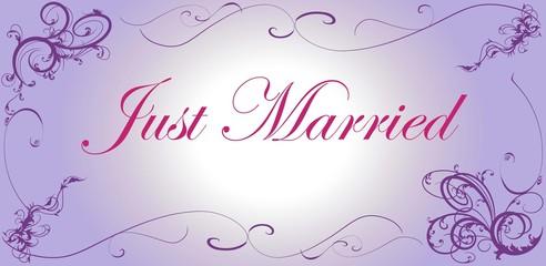 Hochzeitsbanner Just Married