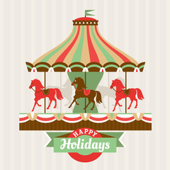 Greeting card with carousel