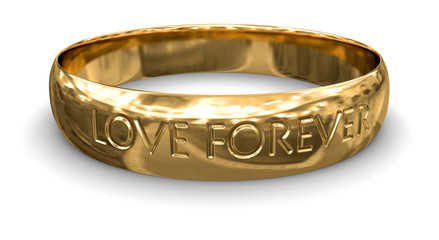Gold ring (clipping path included)