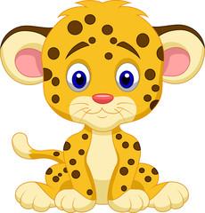Baby leopard cartoon