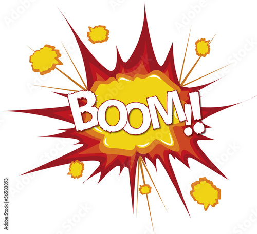 """Boom bang comic cartoon explosion"" Stock image and ..."