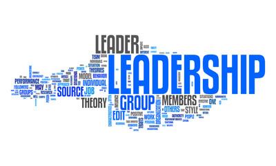 leadership text cloud