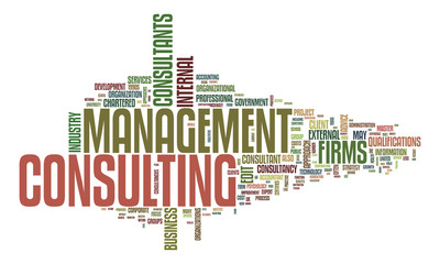 management consulting text cloud