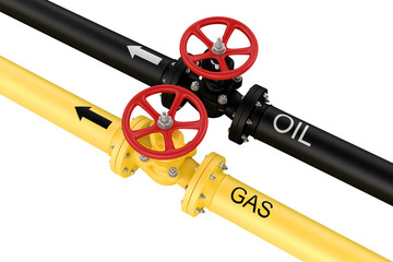 Natural gas and oil mains. Deliveries of resources.