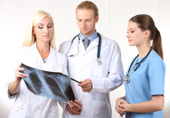 Medical workers in office