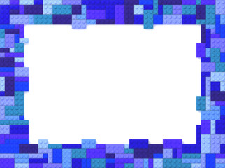 Toy Bricks Picture Frame - Blue