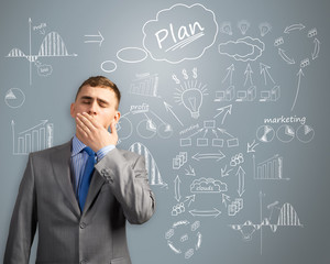 businessman thinking about innovation in business