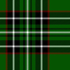 Tartan traditional fabric seamless texture, green black