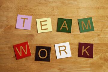 Team Work - business sign