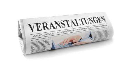 Zeitung mit Veranstaltungen