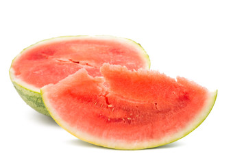 sliced ​​watermelon isolated