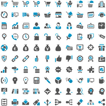 Blue Grey Webicons - Work Business Internet Work