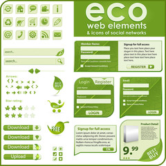 Eco elements and icons