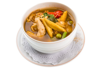 Spicy Thai Chicken and Corn Soup