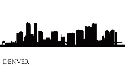 Denver city skyline silhouette background