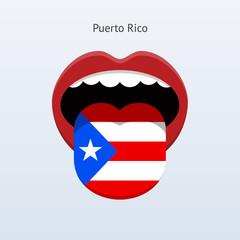 Puerto Rico language. Abstract human tongue.