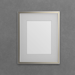 blank modern 3d frame on texture background as concept
