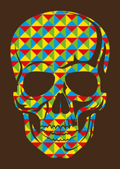Geometric abstraction with skull.