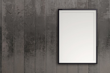 empty modern style frame on composition wall as concept