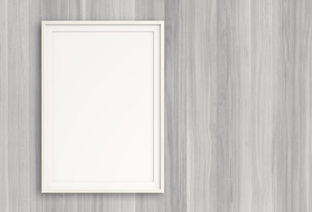 empty modern style frame on composition wall